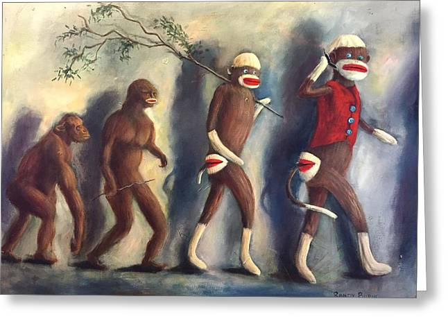 Greeting Card featuring the painting Evolution by Randol Burns
