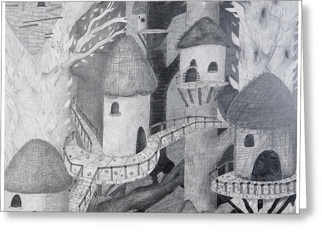 Ewok Village Greeting Card by Sean Goldsmith