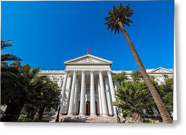 Ex Congress Building Of Chile Greeting Card