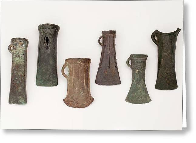 Examples Of Late Bronze Age Socketed Axes Greeting Card by Paul D Stewart