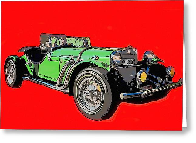 Excalibur Car  Greeting Card by Tommytechno Sweden