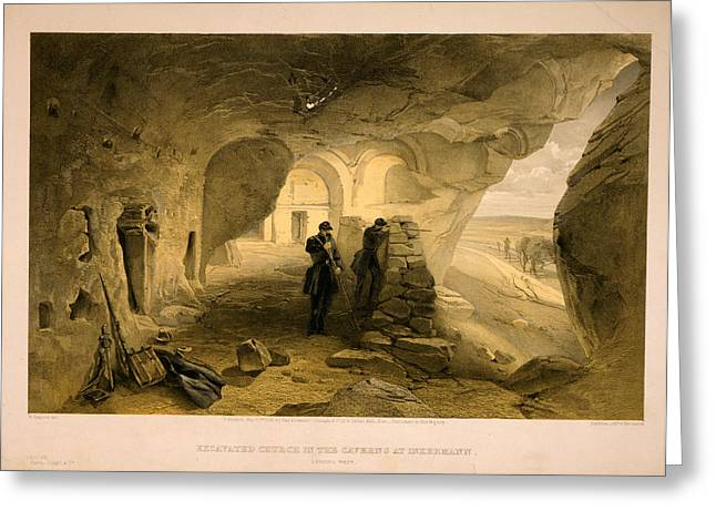 Excavated Church In The Caverns At Inkermann Greeting Card by Litz Collection