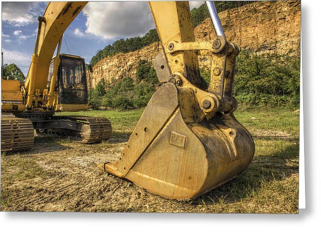 Excavator At Big Rock Quarry - Emerald Park - Arkansas Greeting Card