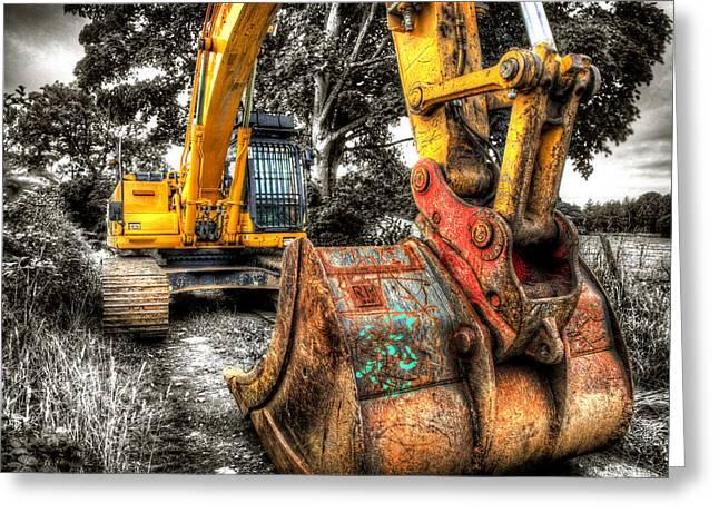 Excavator Greeting Card