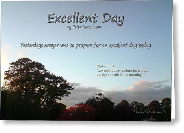 Excellent Day Greeting Card