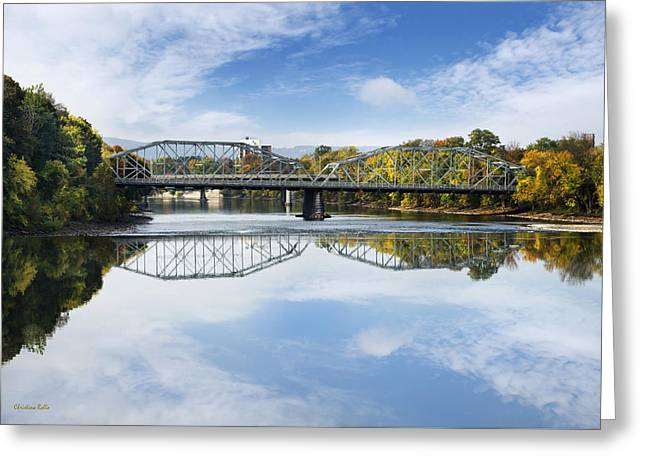 Exchange St. Bridge Rock Bottom Dam Binghamton Ny Greeting Card
