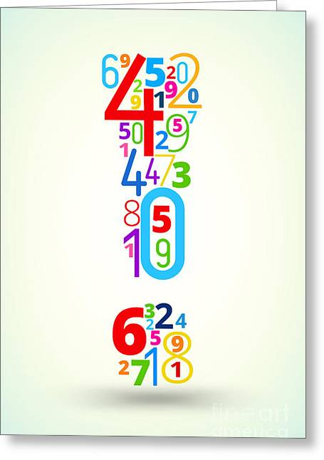 Exclamation Point,  From Rainbow Greeting Card