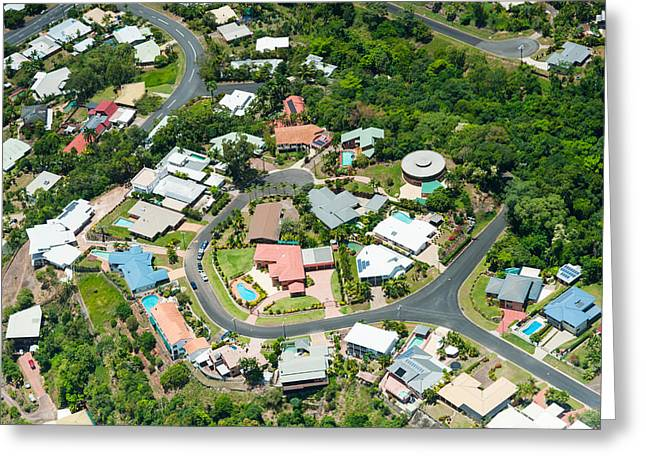 Exclusive Houses On Hilltop Cul-de-sac Greeting Card by Panoramic Images