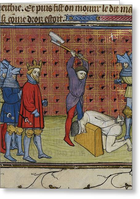 Execution Of Jacquerie Leaders Greeting Card by British Library
