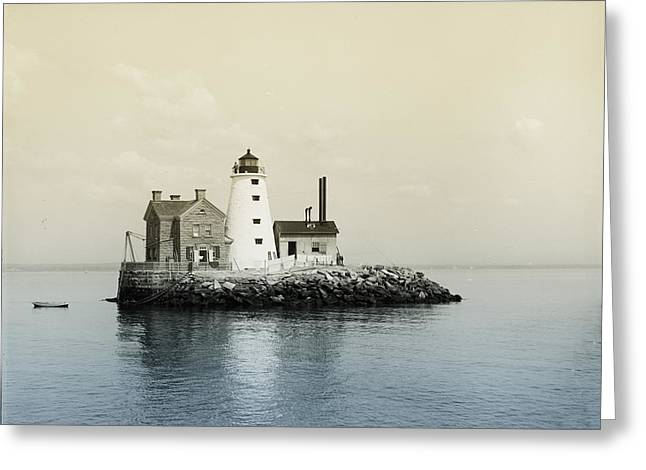Execution Rocks Lighthouse New York  Greeting Card by Bill Cannon