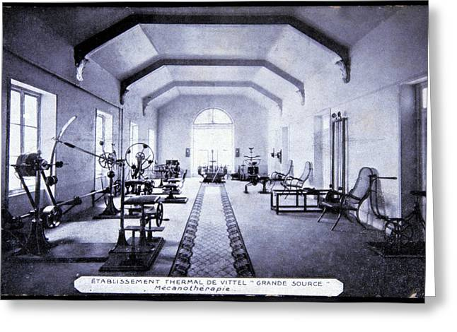Exercise Room At A Spa Greeting Card by Cci Archives/science Photo Library