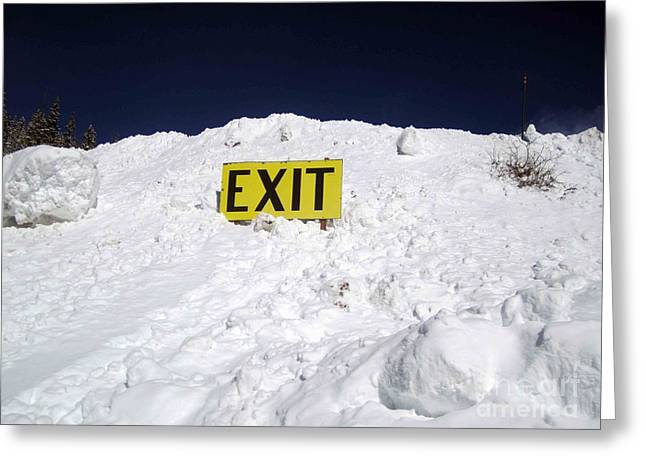Exit Greeting Card by Fiona Kennard