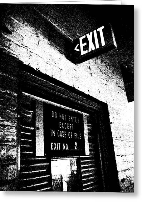 Exit Number Two Greeting Card