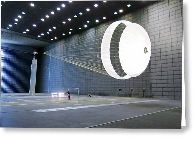 Exomars Schiaparelli Parachute Testing Greeting Card by Us Air Force
