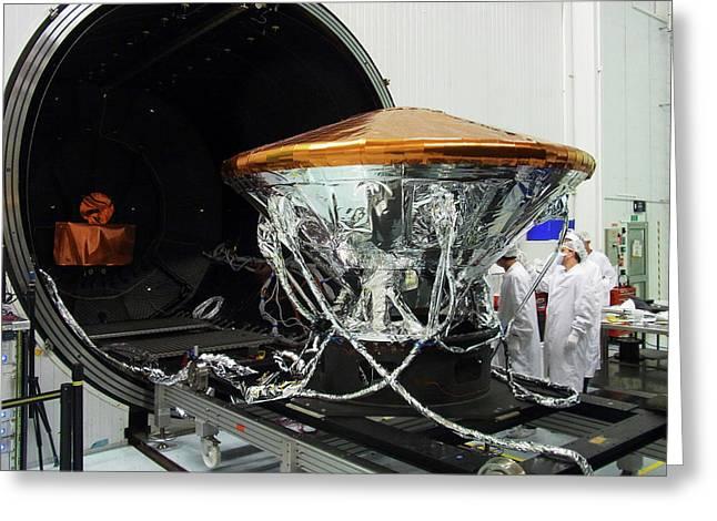 Exomars Schiaparelli Thermal Testing Greeting Card by European Space Agency/b. Bethge