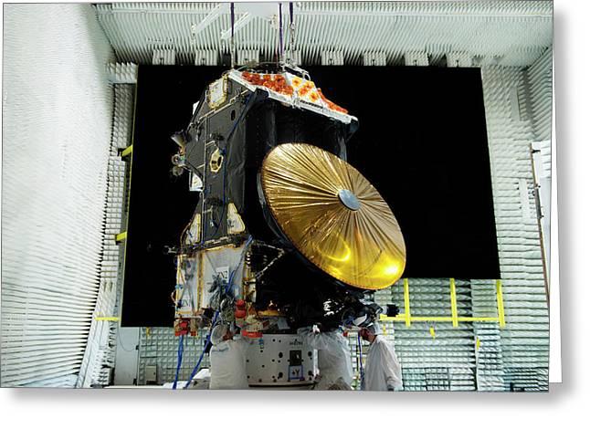 Exomars Spacecraft Anechoic Testing Greeting Card by European Space Agency/s. Corvaja
