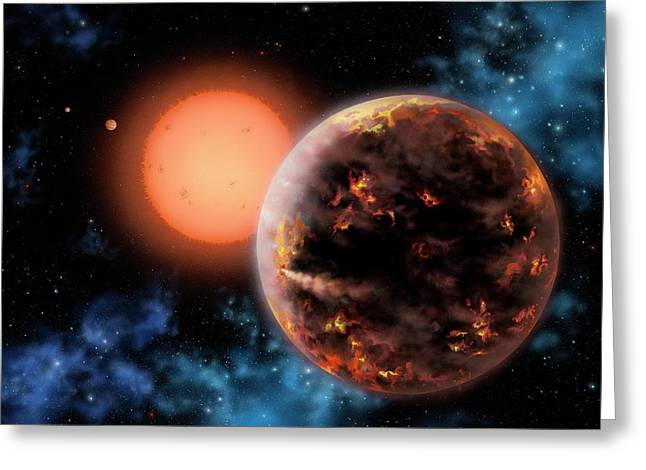 Exoplanet Gliese 876 D Greeting Card