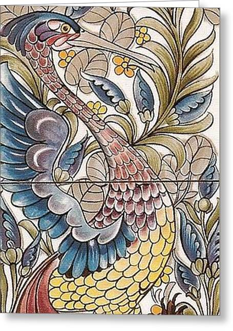 Exotic Bird Greeting Card by William Morris