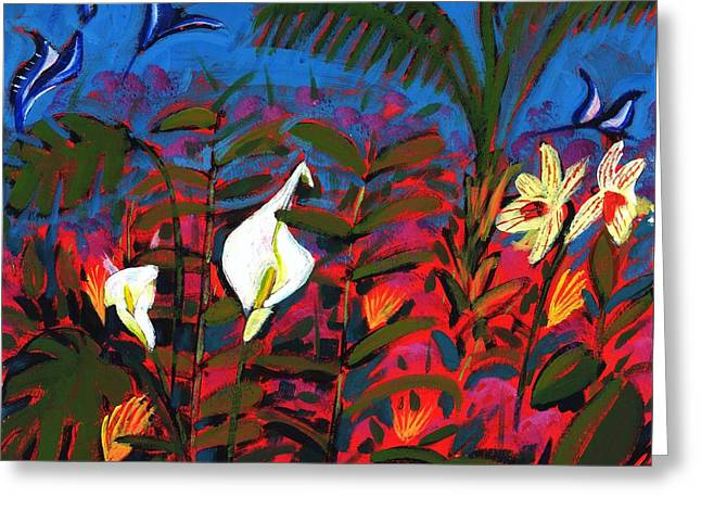 Exotic Garden Greeting Card by Paul Powis