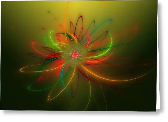 Greeting Card featuring the digital art Exotic Lotus by Hanza Turgul