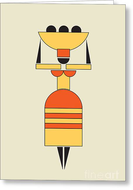 Exotic Woman Carrying Food On The Head  Greeting Card