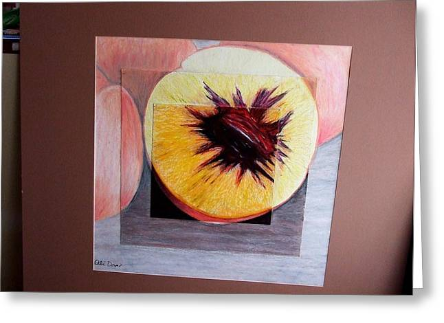 Expanding Peach Greeting Card by Ali Dover