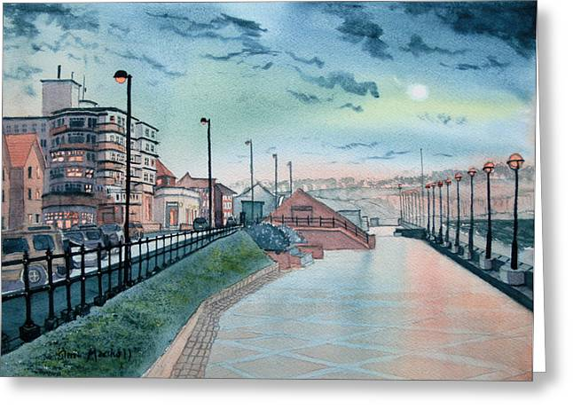 Expanse Hotel And South Promenade In Bridlington Greeting Card