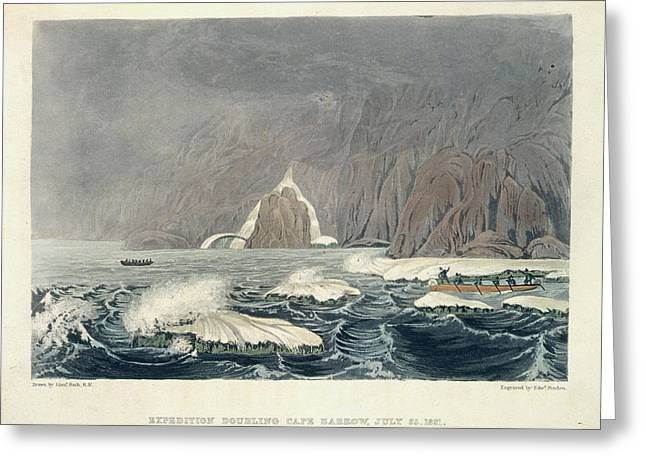 Expedition Doubling Cape Barrow Greeting Card by British Library