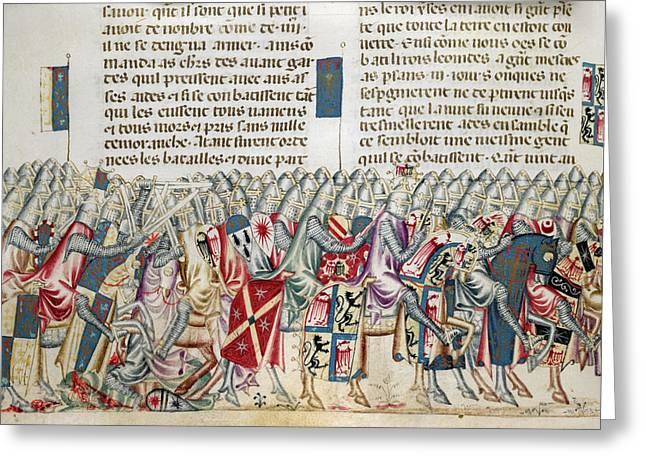 Expedition Of Xerxes Greeting Card by British Library