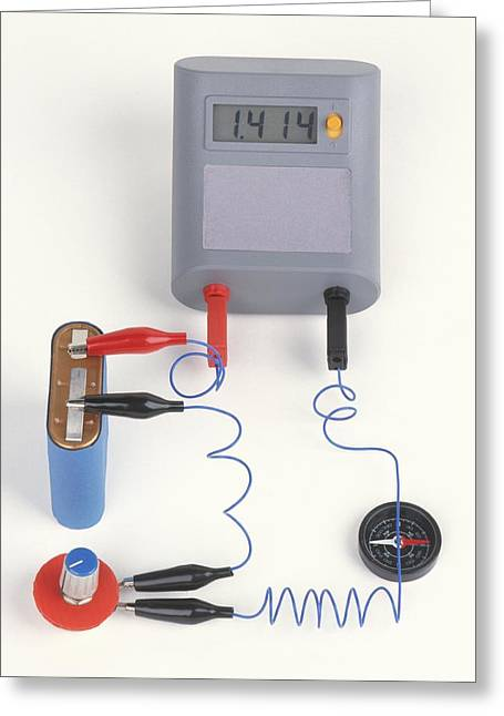 Experiment Showing Electromagnet Effect Greeting Card by Dorling Kindersley/uig