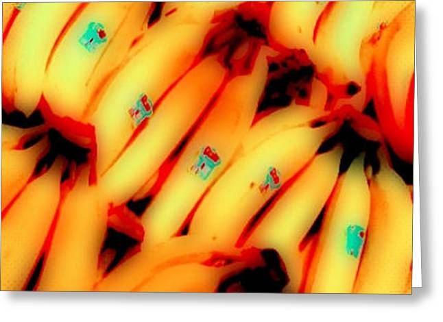 Experimental Shot Of Bananas Greeting Card by Bob Semk