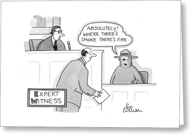 'expert Witness' Greeting Card