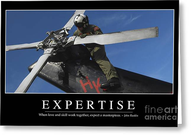 Expertise Inspirational Quote Greeting Card by Stocktrek Images