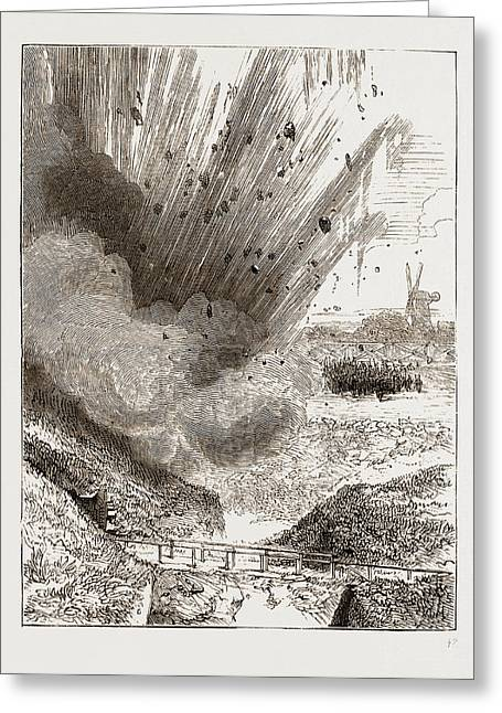 Exploding Mine In The New Ravelin Greeting Card by Litz Collection