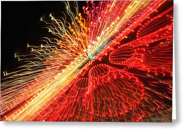 Exploding Neon Greeting Card