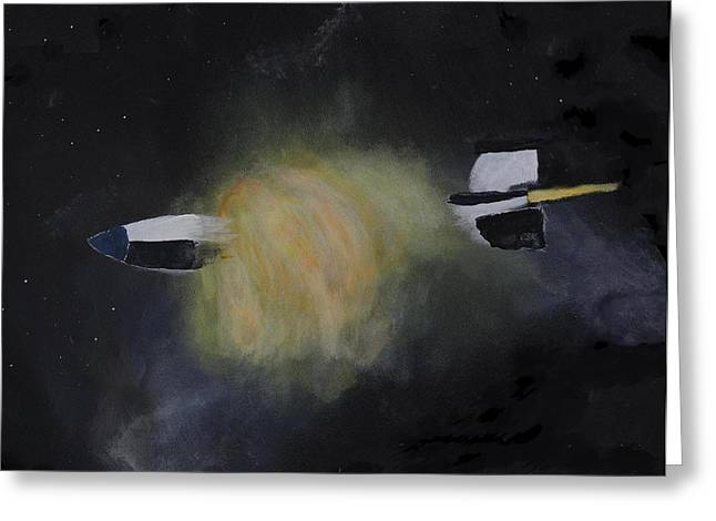 Exploding Rocket Position 3 Greeting Card by Carl S Kralich