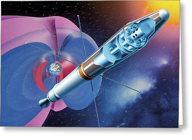 Explorer 1 And Earth's Radiation Belts Greeting Card