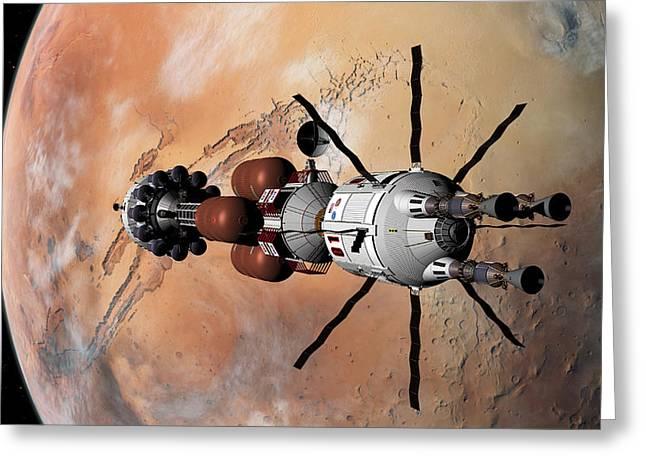 Explorer At Mars Part 1 Greeting Card by David Robinson