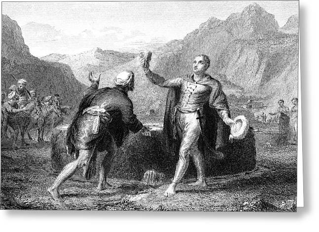 Explorer James Bruce Reaches The Source Greeting Card by Mary Evans Picture Library