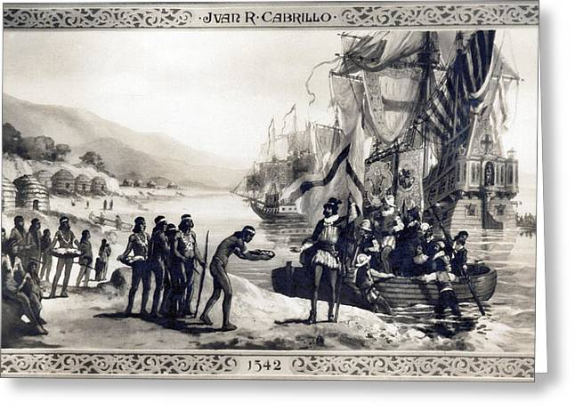 Explorer Juan Cabrillo Greeting Card