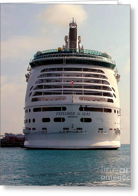 Explorer Of The Seas Greeting Card