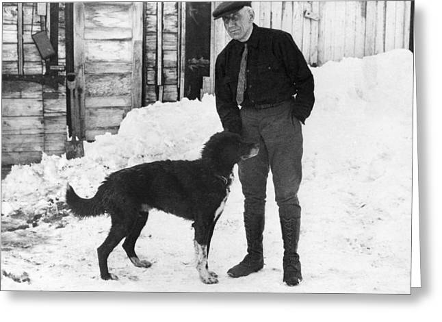 Explorer Roald Amundsen Greeting Card by Underwood Archives