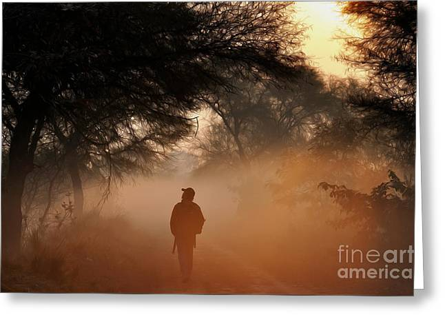 Explorer The Nature Greeting Card by Manjot Singh Sachdeva