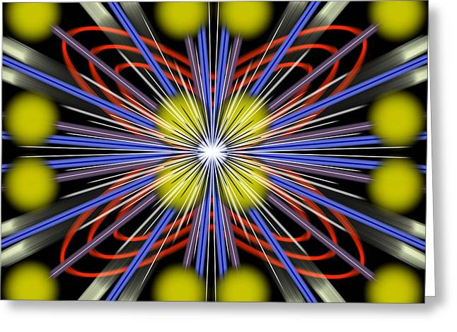 Explosion Greeting Card by Brian Johnson