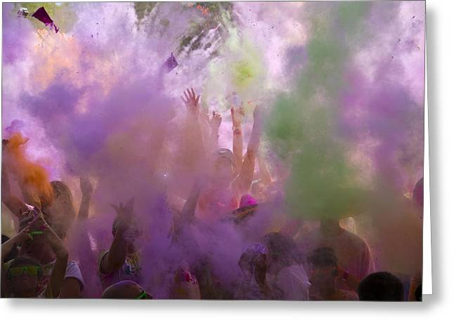 Greeting Card featuring the photograph Explosion Of Colour by Debbie Cundy