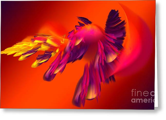 Explosion Of Hot Colors Greeting Card by Hanza Turgul