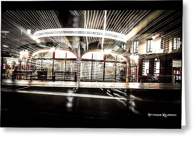 Greeting Card featuring the photograph Explozoom On A French Carousel by Stwayne Keubrick