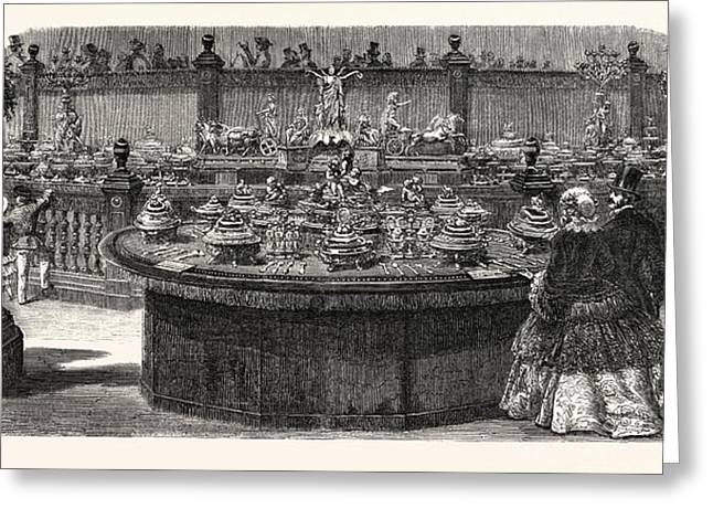 Expo Industry, 1855. Service Table Ordered From Mr Greeting Card by French School