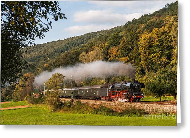 Express Train With The Pacific 01 045 Greeting Card by Christian Spiller