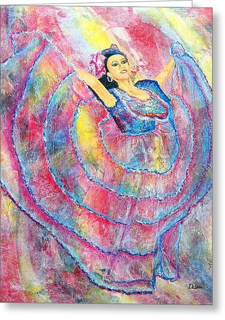 Expressing Her Passion Greeting Card by Susan DeLain